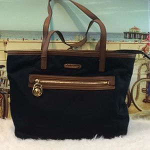 MICHAEL KORS LEATHER AND PVC TOTE